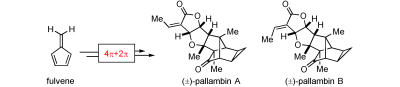 Pentafulvene for the Synthesis of Complex Natural Products: Total Syntheses of (±)-Pallambins A and B.  C. Ebner, E. M. Carreira, Angew. Chem. Int. Ed. 2015, 54, 11227